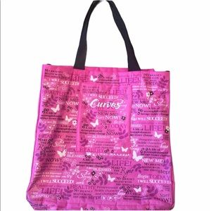 Curves pink shopping tote, GUC